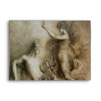 Hesiod and Muse by Gustave Moreau Envelope