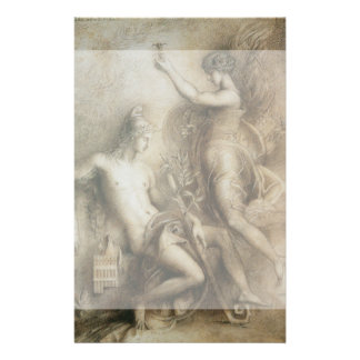 Hesiod and Muse by Gustave Moreau Custom Flyer