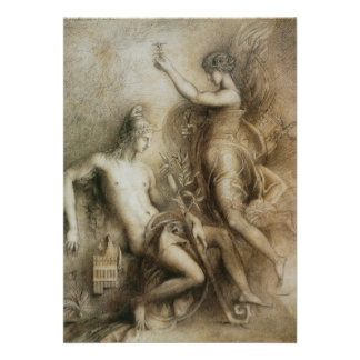 Hesiod and Muse by Gustave Moreau Invites