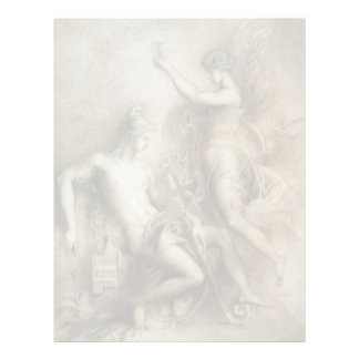 Hesiod and Muse by Gustave Moreau Letterhead