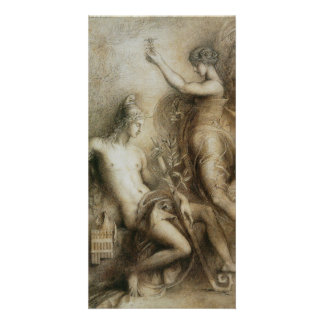 Hesiod and Muse by Gustave Moreau Custom Photo Card