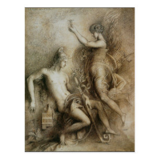 Hesiod and Muse by Gustave Moreau Postcard