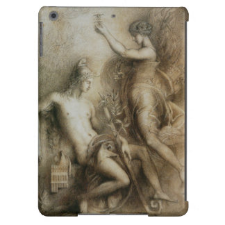 Hesiod and Muse Classical Drawing by Moreau iPad Air Cover
