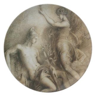 Hesiod y musa de Gustave Moreau, 1857 Plato