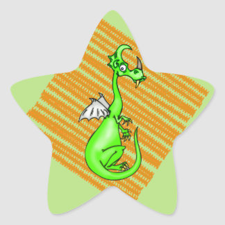 Hesitant Dragon Star Sticker
