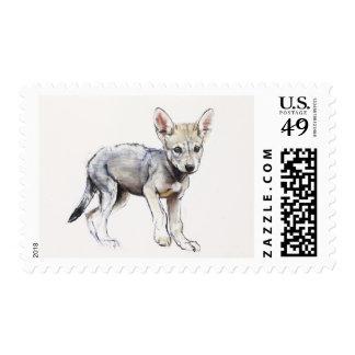 Hesitating Arabian Wolf Pup 2009 Postage