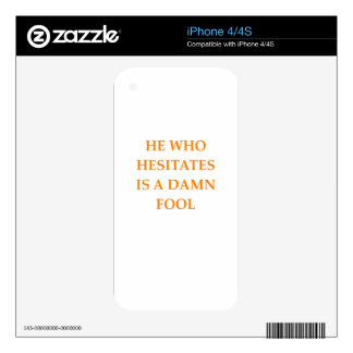 hesitation decal for the iPhone 4