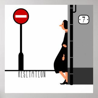 Hesitation Poster
