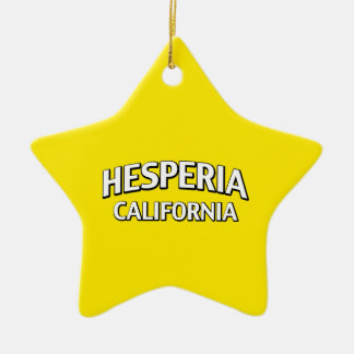 Hesperia California Ceramic Ornament
