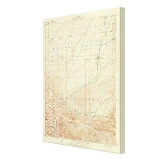 Hesperia quadrangle showing San Andreas Rift Canvas Print