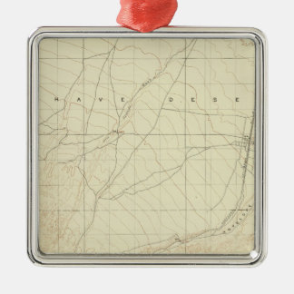 Hesperia quadrangle showing San Andreas Rift Metal Ornament