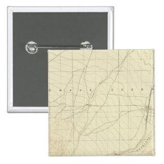 Hesperia quadrangle showing San Andreas Rift Pinback Button