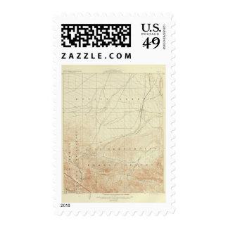 Hesperia quadrangle showing San Andreas Rift Stamp