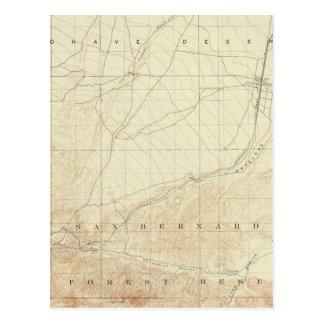 Hesperia quadrangle showing San Andreas Rift Postcard