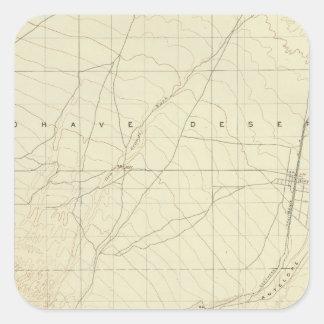 Hesperia quadrangle showing San Andreas Rift Square Sticker