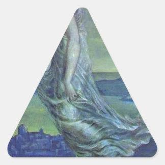 Hesperus. La estrella de la tarde de Edward Pegatina Triangular
