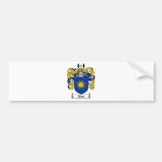 HESS FAMILY CREST -  HESS COAT OF ARMS BUMPER STICKER