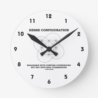 Hesse Configuration (Geometry) Round Clock