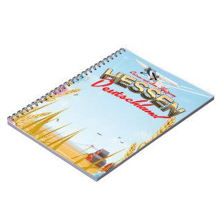 Hessen Deutschland Reiseplakat Notebook