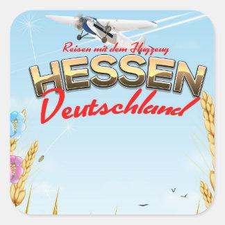 Hessen Deutschland Reiseplakat Square Sticker