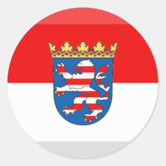 Hessen Flag Gem Classic Round Sticker