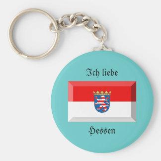 Hessen Flag Gem Key Chains