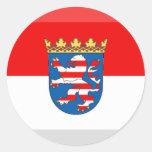 Hessen Flag Gem Round Sticker