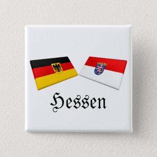 Hessen, Germany Flag Tiles Button