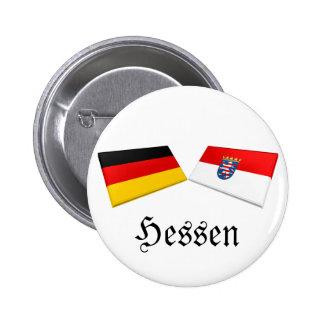 Hessen, Germany Flag Tiles Pinback Buttons