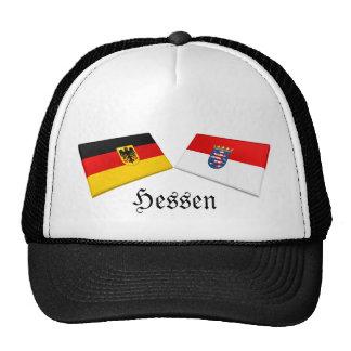 Hessen, Germany Flag Tiles Mesh Hats
