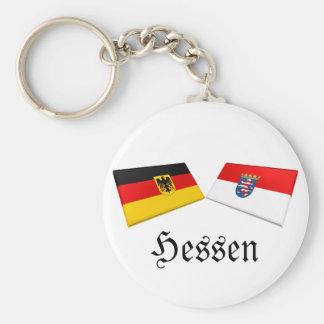 Hessen, Germany Flag Tiles Key Chain