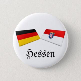 Hessen, Germany Flag Tiles Pinback Button