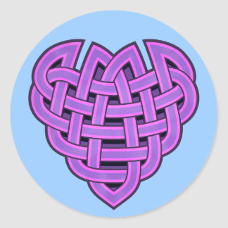 Hesta Heartknot Round Sticker