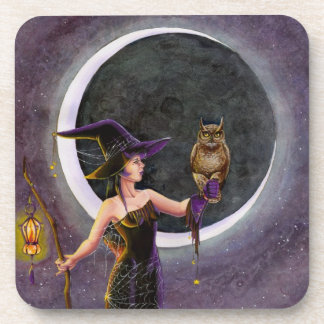 Hester and the Owl Beverage Coaster