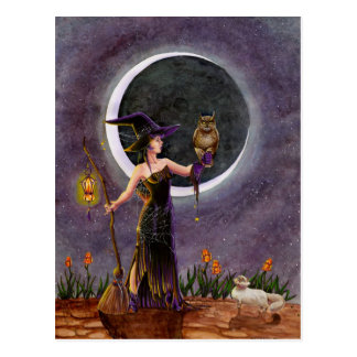 'Hester and the Owl' Postcard