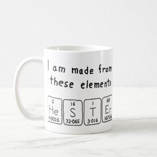 Hester periodic table name mug
