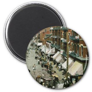 Hester Street, New York City 2 Inch Round Magnet
