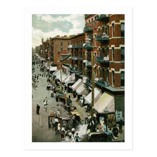 Hester Street, New York Postcard