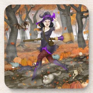 Hester's Autumn Adventure Beverage Coaster