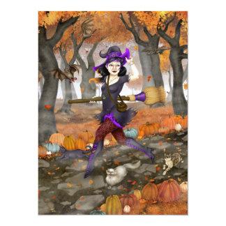 "Hester's Autumn Adventure 5.5"" X 7.5"" Invitation Card"
