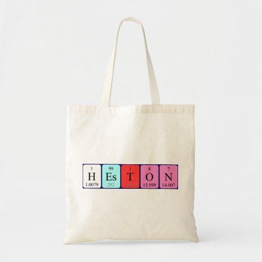 Heston periodic table name tote bag
