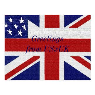 Hetalia: Greetings from USxUK Postcard
