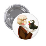 Hetalia Iceland & Mr. Puffin Button