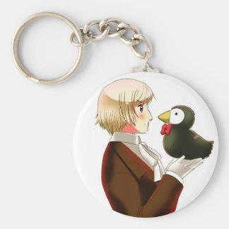 Hetalia Islandia y Sr. Puffin Keychain Llavero Personalizado