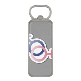 HETERO LOVE SYMBOLS -.png Magnetic Bottle Opener