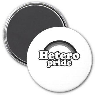 Hetero Pride 3 Inch Round Magnet