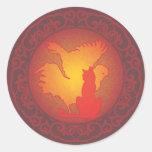 Hetero Pride II Round Stickers