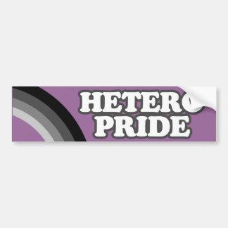 HETERO PRIDE -.png Car Bumper Sticker