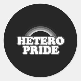 Hetero Pride Round Sticker