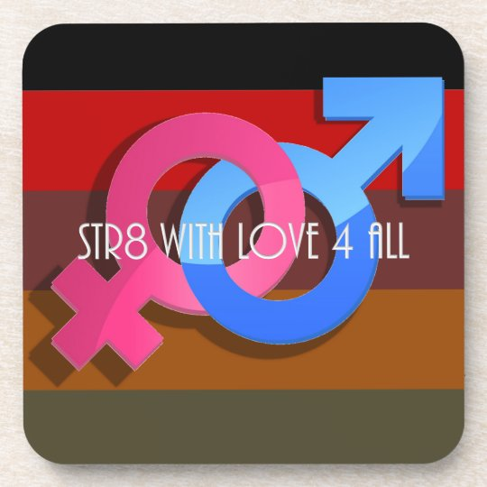 Hetero Pride: Str8 with Love 4 All Coaster